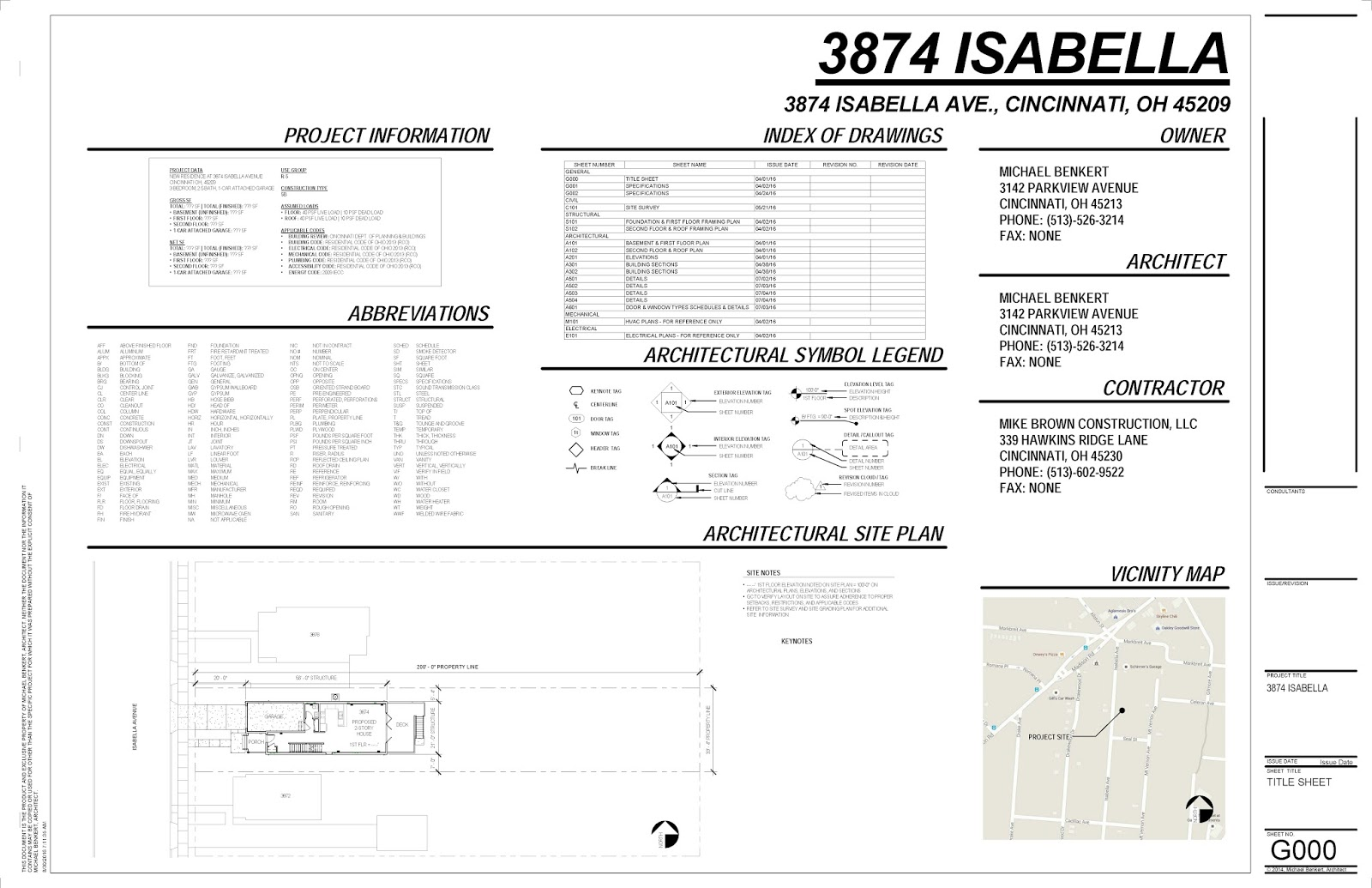 The Home 20 Blog August 2016 – Site Plan Abbreviations