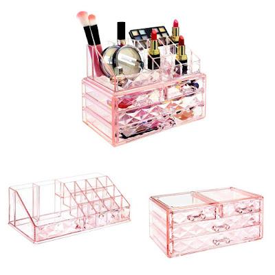 Shop Wholesale Diamond Pattern Acrylic Jewelry & Cosmetic Organizer at NileCorp.com