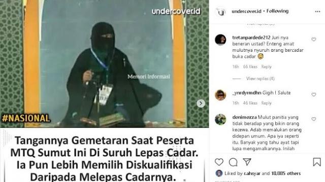 Mundur MTQ Gegara Diminta Buka Cadar, Muyyassaroh Ternyata Hafizah 30 Juz