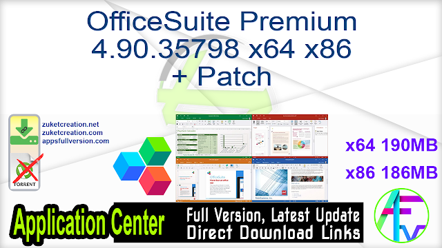 OfficeSuite Premium 4.90.35798 x64 x86  + Patch