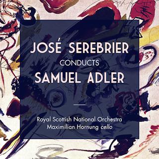 """Portada del CD editado por el sello Linn """"Jose Serebrier Conducts Samuel Adler""""."""