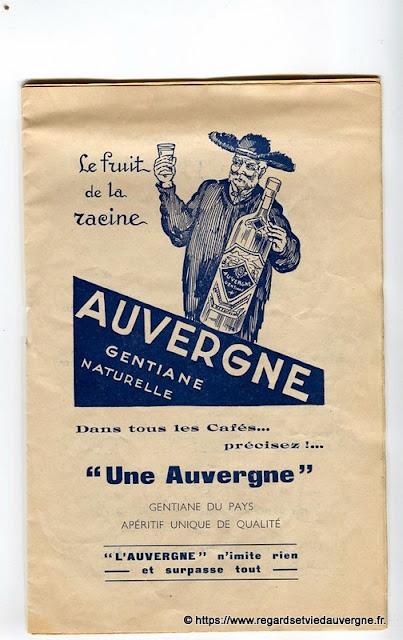 La Bourrée du Massif Central, programme 1938, Auvergne Gentiane
