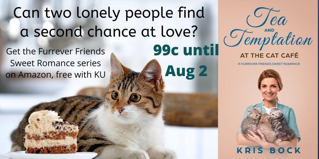 99c sale! Tea and Temptation at the Cat Café - Get this comfort read now: #SweetRomance #CleanRomance #ContemporaryRomance