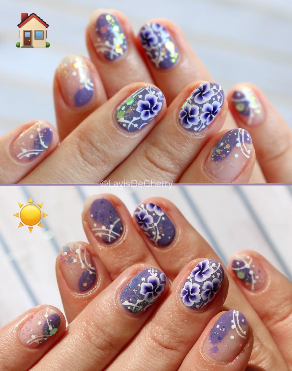 nail-art-one-stroke-fleurs-paillettes-changent-de-couleur-soleil-magique