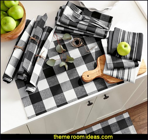 Buffalo Check kitchen decor The Gray Barn Emily Gulch Buffalo Check Placemats country kitchen decor
