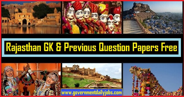 General Knowledge on Rajsthan Free Download Here