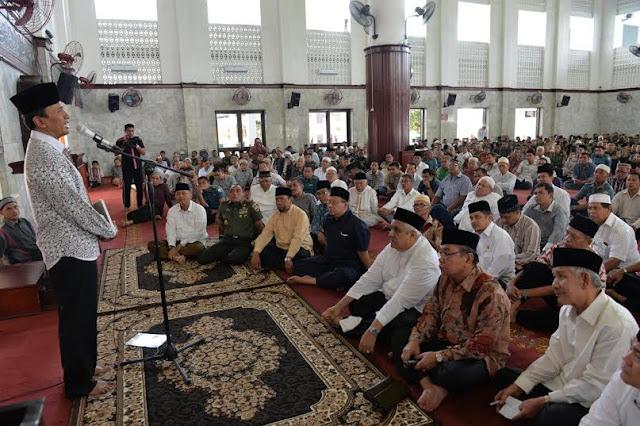Gubsu Dukung Pangdam Motori Pembangunan Kembali Masjid Agung Medan