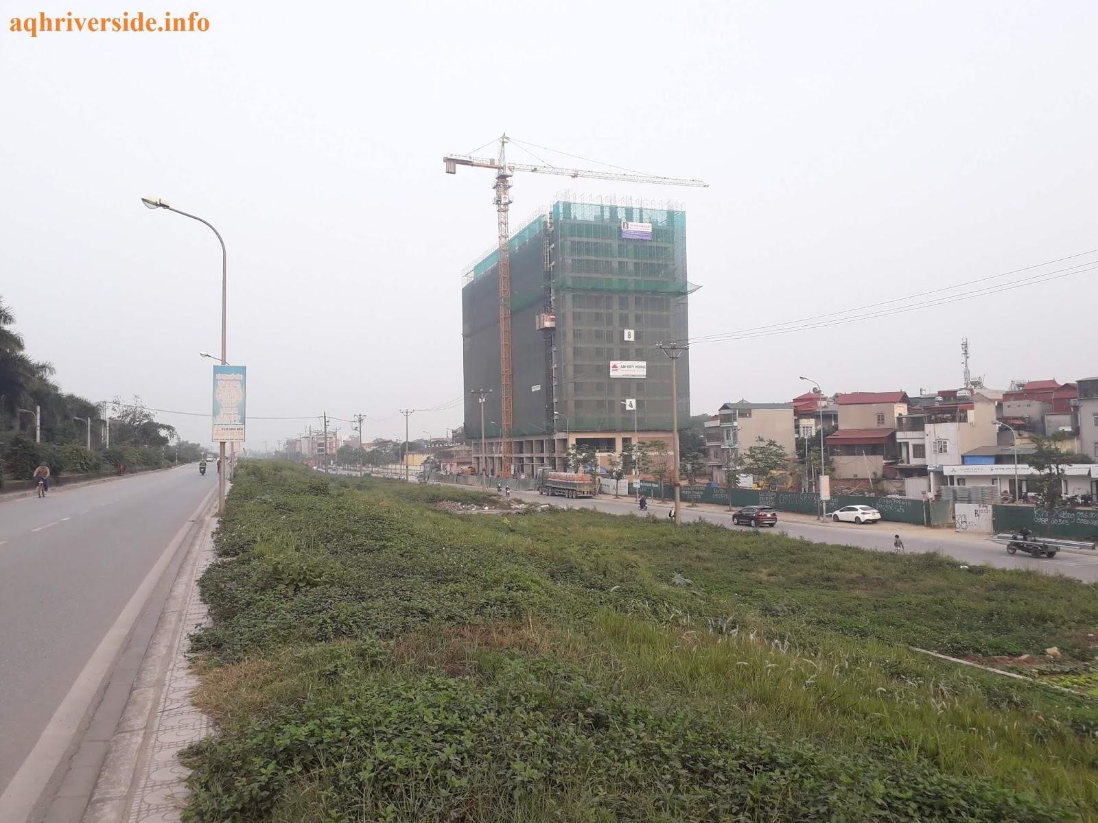 Chung cư AQH đã được thi công đến tầng 14.