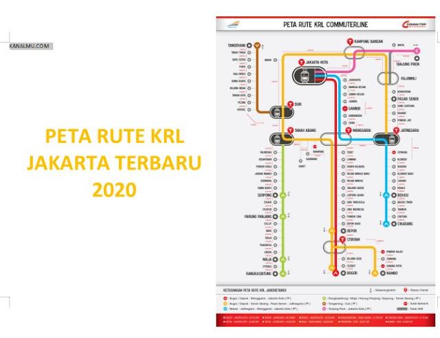 Download Peta Rute Kereta Rel Listrik (KRL)