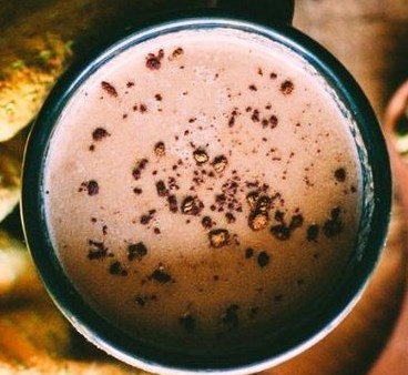 Hot Cacao with Cardamom + Tahini (Vegan) #healthydrink #hotdrink