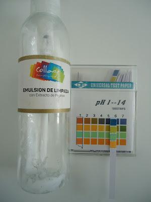 pH de Emulsión de limpieza de Collage