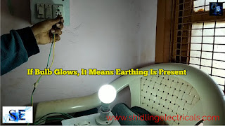 how to check earthing using bulb