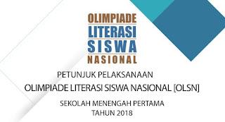 Juklak Juknis OLSN SMP 2018 Olimpiade Literasi Siswa Nasional SMP MTs 2018