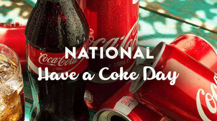 National Have a Coke Day Wishes Awesome Picture