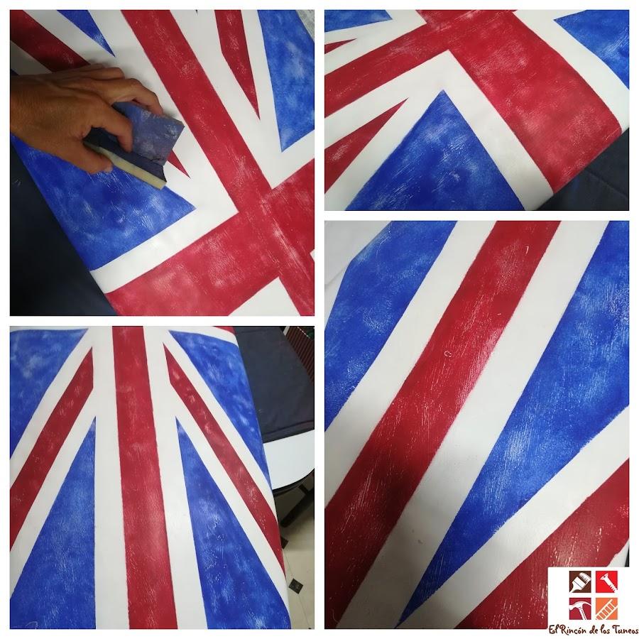pintar una tabla de surf con la bandera inglesa