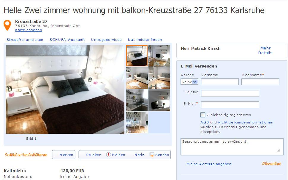 Zimmer Wohnung Karlsruhe