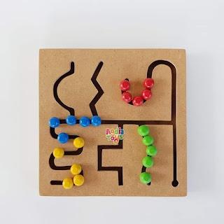 Maze Bulat Mainan Montessori Anak TK