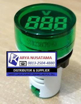 Jual Lampu Pilot Panel Voltmeter AD16-22DV Hijau