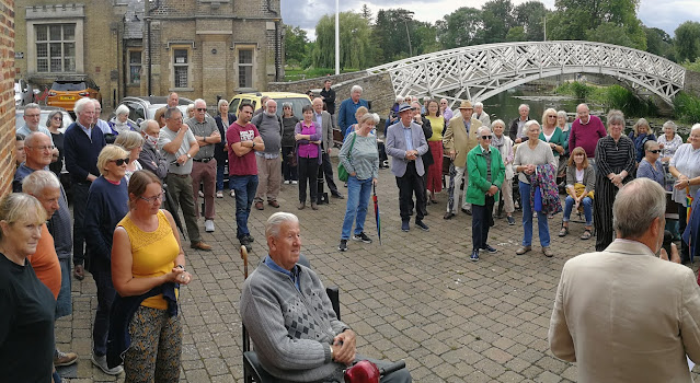 Interested crowd at the opening of the Godmanchester Museum