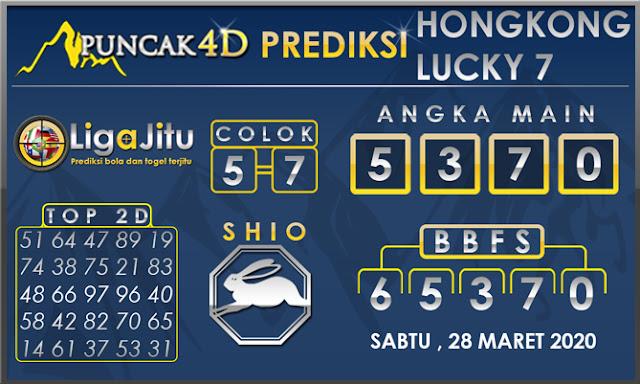 PREDIKSI TOGEL HONGKONG LUCKY7 PUNCAK4D 28 MARET 2020