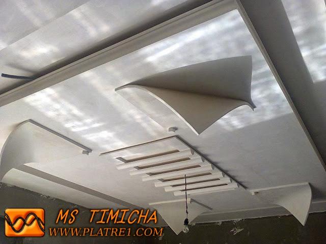 Faux plafond en plâtre