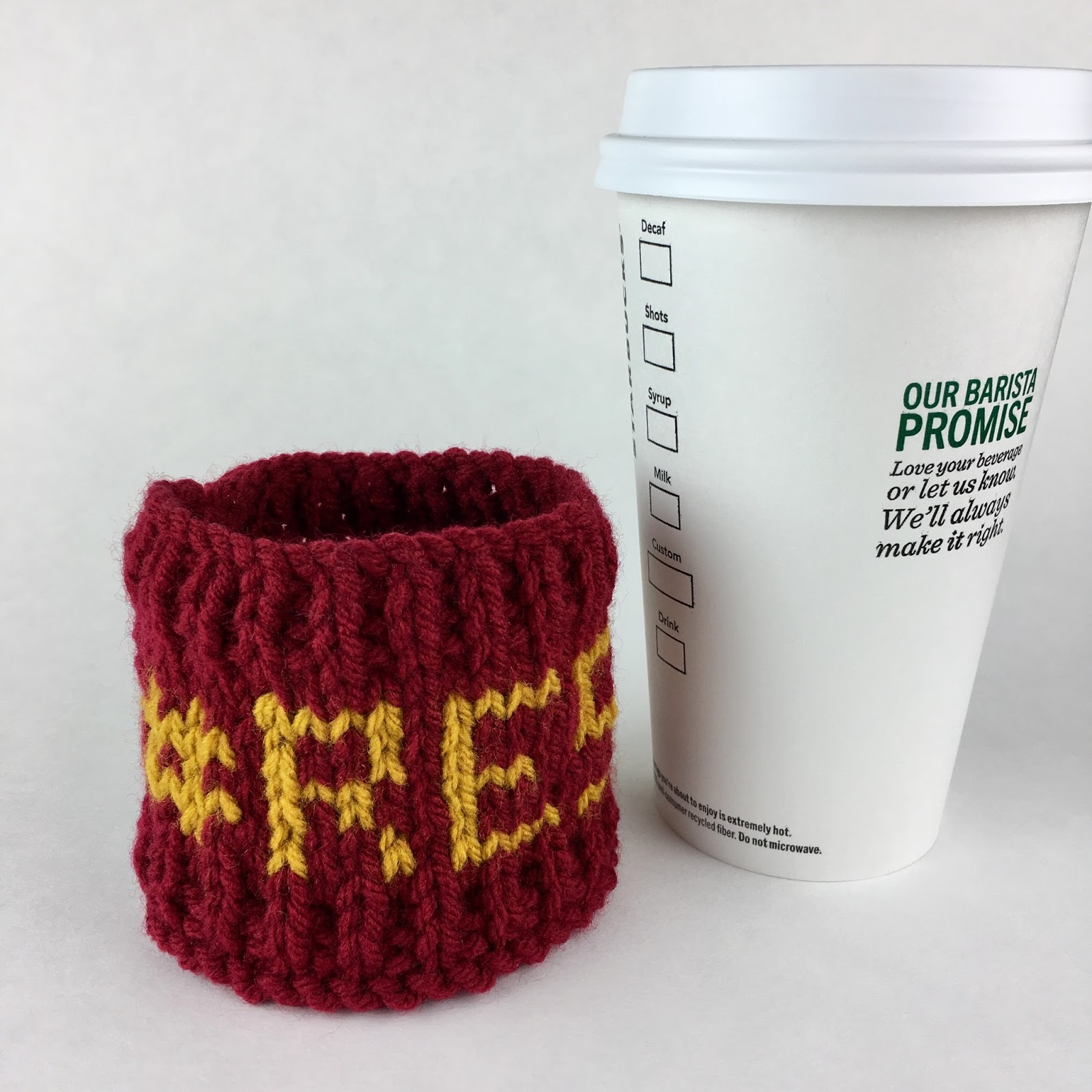 New: #RESIST knitted coffee sleeve pattern | Craft the Revolution