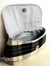 pochette in tweed e lana