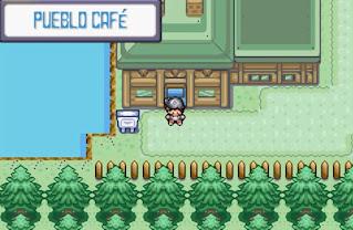 Pokemon Dark Blue para GBA Laboratorio Pokemon Pueblo Cafe