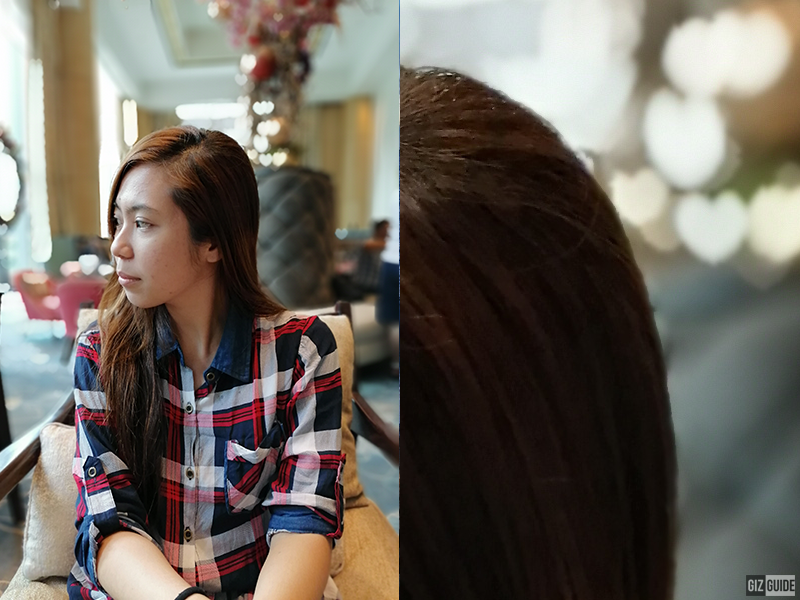 Portrait mode with regular heart bokeh