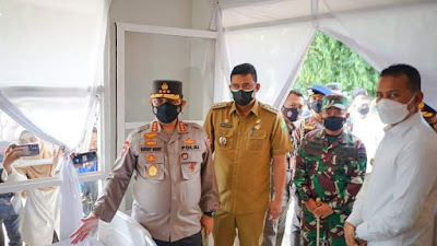 Waka Polri Apresiasi Posko PPKM di Jalan Menteng Medan, Ada Tempat Isoman Covid-19