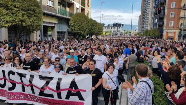 Manifestación en Alsasua en repulsa de la sentencia del Tribunal Supremo