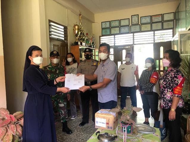 Bersama Dengan Perangkat Desa Personel Jajaran Kodim 0207/Simalungun Sosialisasikan Peraturan Dari Walikota PPKM Level lll