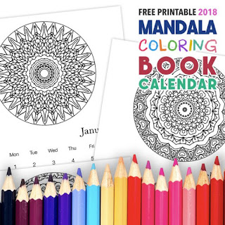 2018 calendar to color