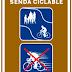 nuevas señales de la senda ciclable de Madrid- Río, el eje ciclista Mayor-Alcalá y una guía ciclista de Madrid