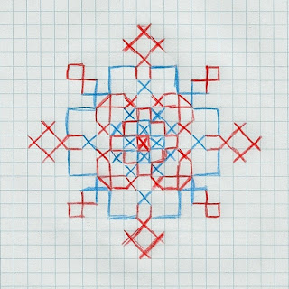 snowflake cross-stitch pattern