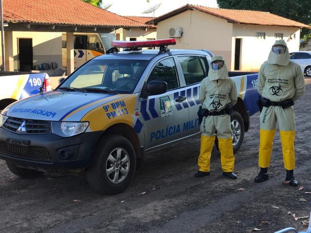 9º Batalhão da PM em Araguatins, adquire por meio de parceria, equipamentos de proteção individual contra a Covid-19