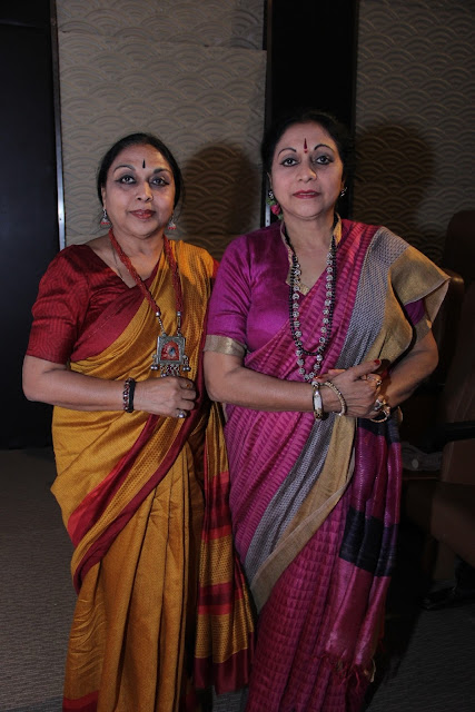 Nalini with Kamalini, Chairperson Kathak Kendra
