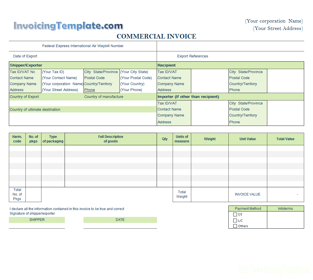 Free Pharmacy Bill invoice template