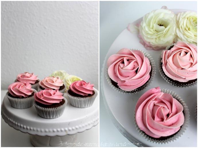 pastell Cupcakes zum Muttertag
