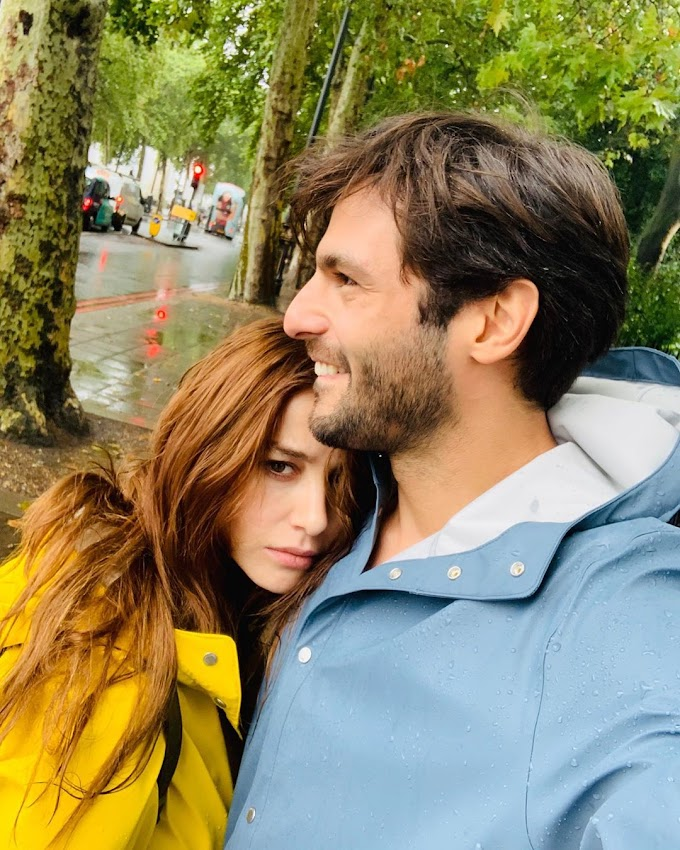 The sweet interaction of Özge Gürel and Serkan Çayoğlu!