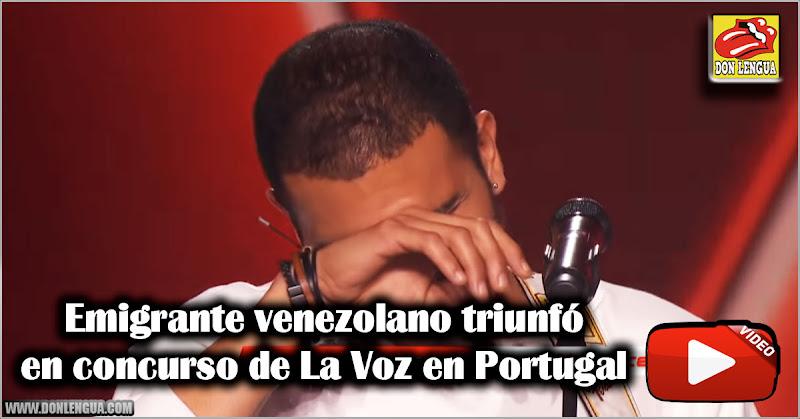Emigrante venezolano triunfa en concurso de La Voz en Portugal