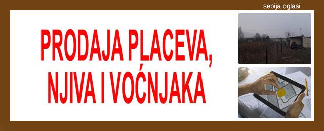 PRODAJA PLACEVA, NJIVA I VOĆNJAKA SEPIJA OGLASI - 1f.