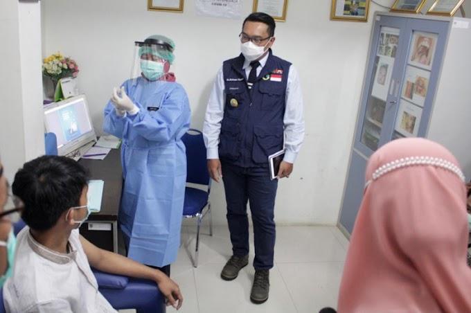 Gubernur Tinjau Kesiapan Simulasi Pemberian Vaksin Covid-19 di Puskesmas Tapos