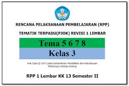 RPP 1 Lembar PJOK KK 13 SD/MI Kelas 3