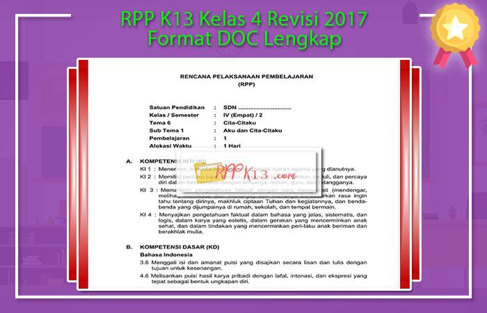 Format RPP Kurikulum 2013 Doc
