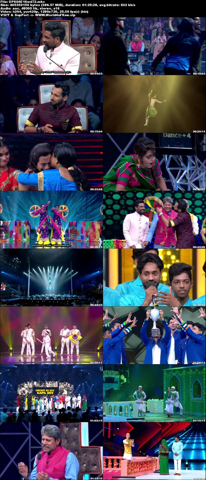 Dance Plus S4 01 December 2018 720p WEBRip 300Mb x264 world4ufree.vip tv show Dance Plus 4 2018 hindi tv show Dance Plus 4 2018 Season 4 Star Plus tv show compressed small size free download or watch online at world4ufree.vip