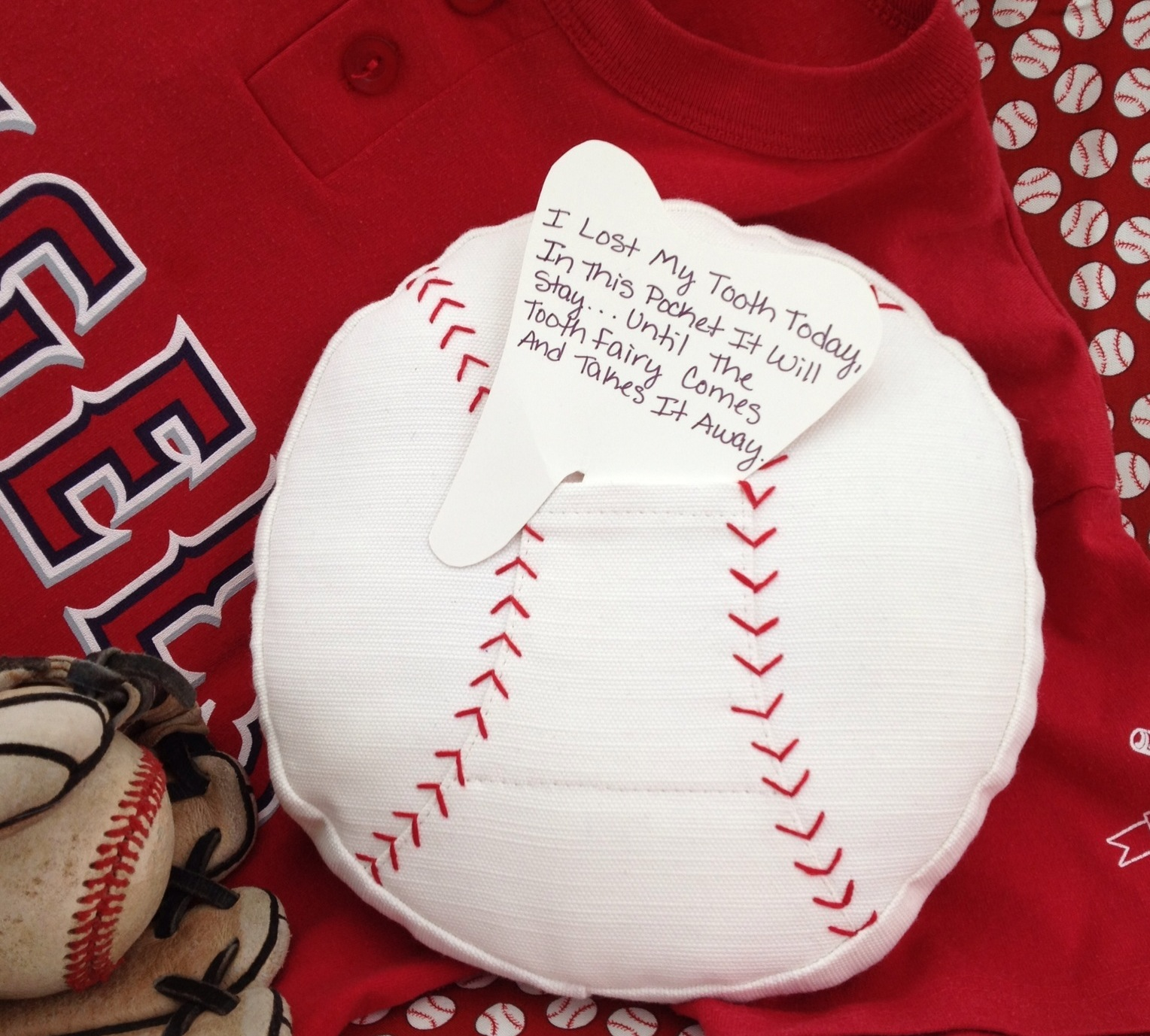 Sew Passionate Baseball Toothfairy Pillow