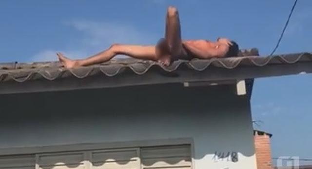 Preso do semiaberto atira contra a polícia e tenta fugir nu por telhado de casa durante abordagem no Acre
