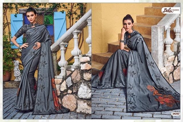 art silk printed casual sarees with designer blouse.