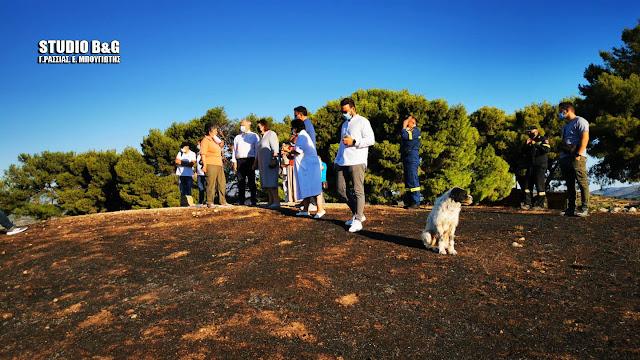Σε εξελιξη σύσκεψη παρουσία Μενδώνη για την πυρκαγιά στις Μυκήνες